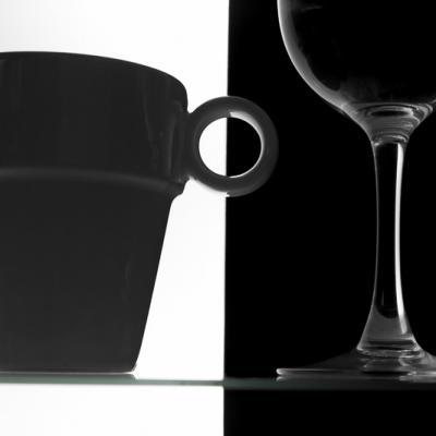 Mug & verre en n&b